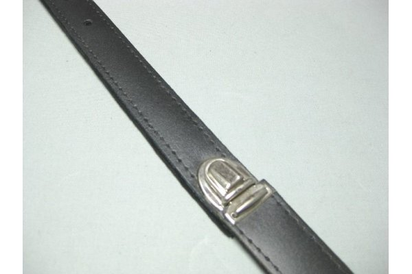 back strap SLM snapping clip for shoulder strap systems - leathe