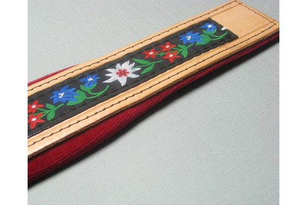 bass strap 120 bass - SLM104 Folklore natural leather 4.5 cm
