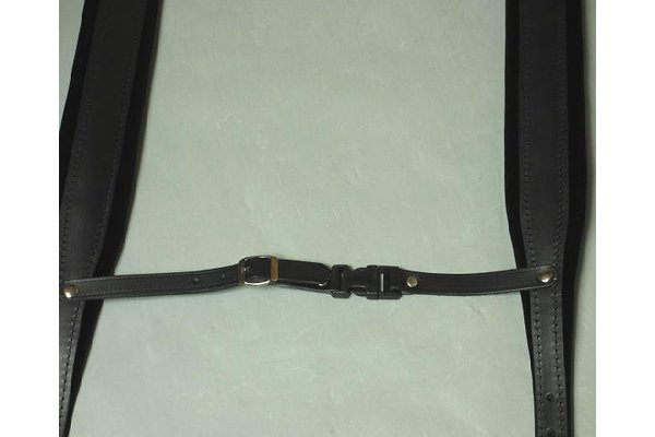 accordion shoulder strap 120 bass- IT302/A black with back strap