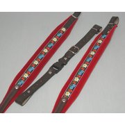 accordion shoulder strap 120 bass - IT342 Folklore red